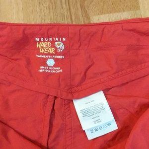 Mountain Hardwear Shorts - Mountain Hardwear Red Water Resistant Shorts
